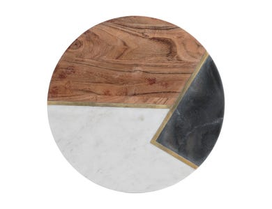 Image for Elements Marble/Acacia Rnd 30cm Chop/Serv Brd
