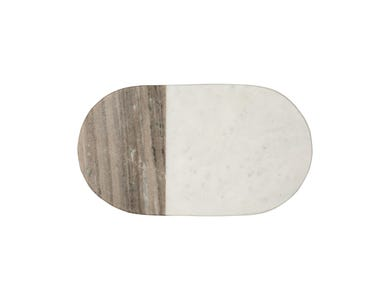 Elements Oval Marble Serve Board 41 X 20cm