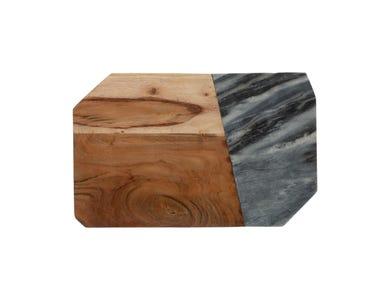 Elements Marble/Acacia Rectangular Board