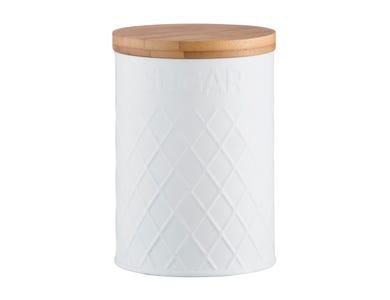 Image for Embossed White Sugar Storage