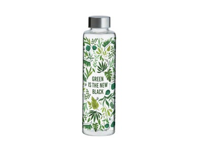 Pure Green New Blk Glass 600ml
