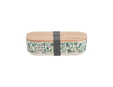 Pure Green New Black Bamboo Lunch Box