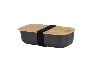 Pure Black Bamboo Fibre Lunch Box