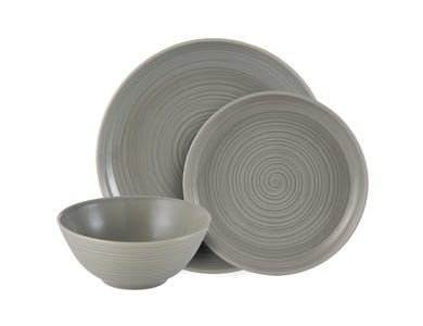 William Mason Grey 12 Piece Dinner Set