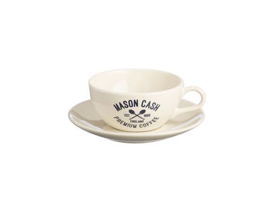 Image for Varsity Cream Cappuccino & Saucer