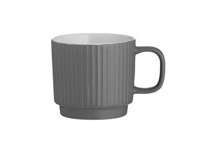 Image for Embossed Line Grey Mug