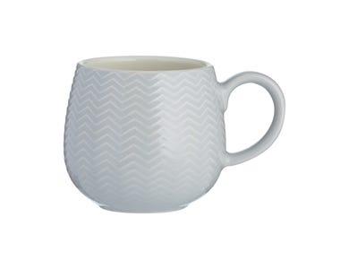 Image for Embossed Chevron Grey Mug