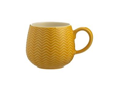 Image for Embossed Chevron Ochre Mug