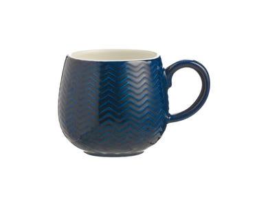 Image for Embossed Chevron Navy Mug
