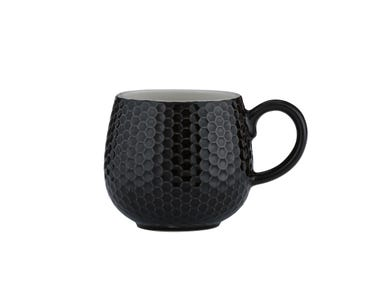 Image for Embossed Honeycomb Black Mug