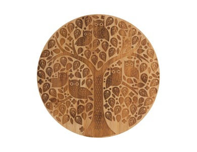 In The Forest Round Serving Board