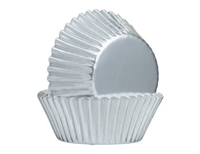 Image for Set Of 32 Silver Foil Cupcake Cases