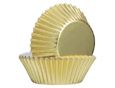 Image for Set Of 32 Gold Foil Cupcake Cases