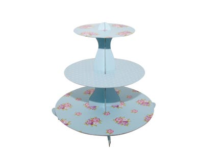 Image for 3 Tier Cupcake Stand Floral