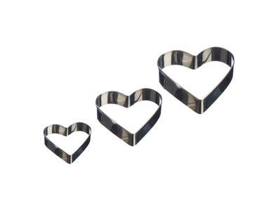 Image for Set Of 3 Heart Mini Fondant Cutters