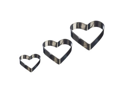 Image for Set Of 3 Heart Mini Fondant Cutters