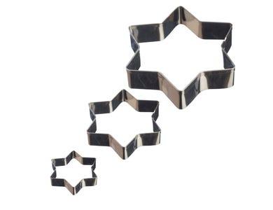 Image for Set Of 3 Star Mini Fondant Cutters