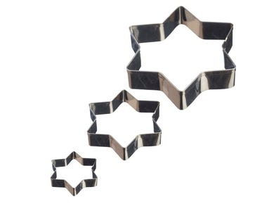 Image for Set Of 3 Star Mini Fondant Cutters