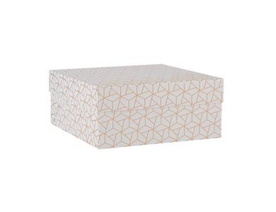 "12"" Geo Rose Gold Cake Box"