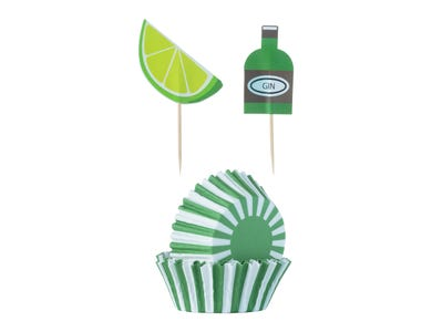 Image for 48 Gin & Tonic Cupcake Case & Toppers