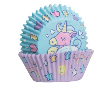 Image for Unicorn Set 48 Cupcake Cases And Toppers
