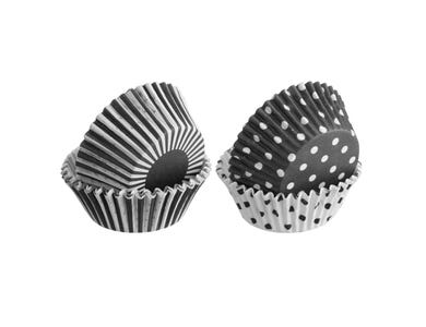 Image for Set 100 Mixed Monochrome Cupcake Cases