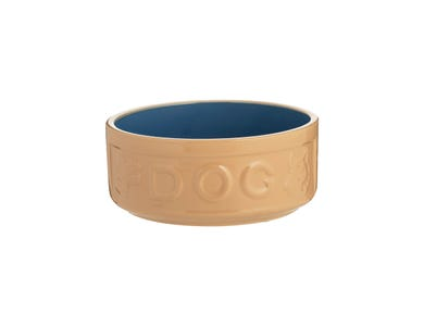 Image for Cane & Blue Lettered Dog Bowl 15cm