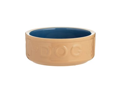 Image for Cane & Blue Lettered Dog Bowl 18cm