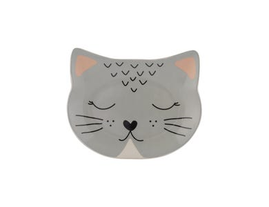 Image for Smokey Cat Bowl 16x13cm