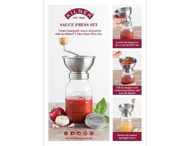 Image for A5 Kilner Sauce Press
