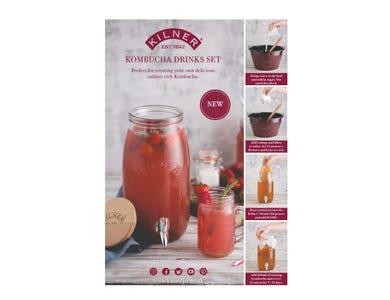 Image for Kilner Kombucha Drinks Set A4 Strut Card