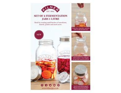 Image for Kilner Set Of 2 Fermentation Jars A4 Pos