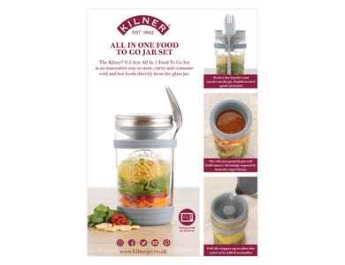 Image for All In 1 Food To Go Jar Set A4 Strut Card