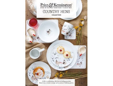 Price & Kensington Country Hens Collection A5 Point of Sale